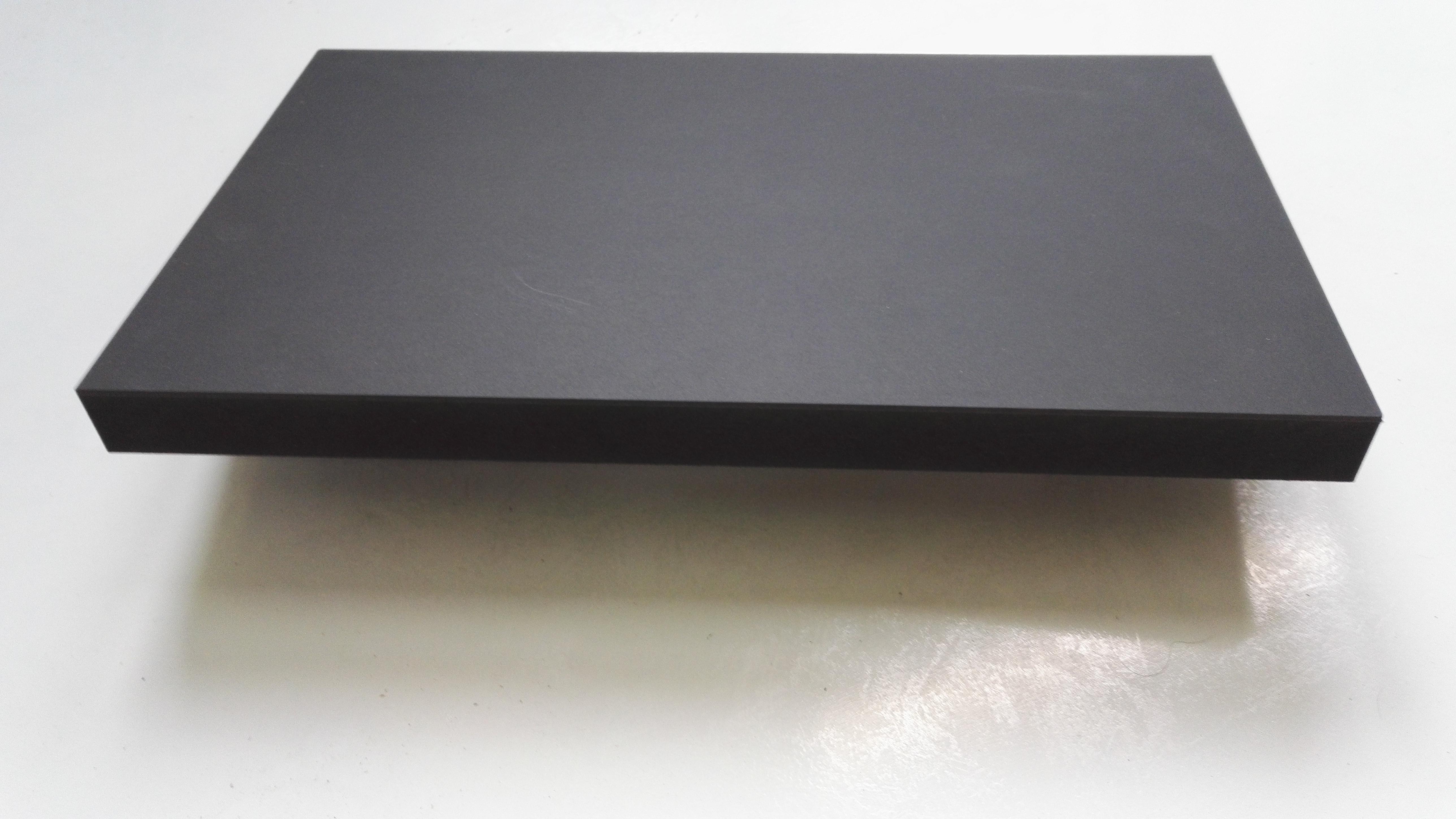 lautsprecherbau thomaier schallwand zuschnitt mdf schwarz 19 mm einseitig mit linoleum schwarz. Black Bedroom Furniture Sets. Home Design Ideas