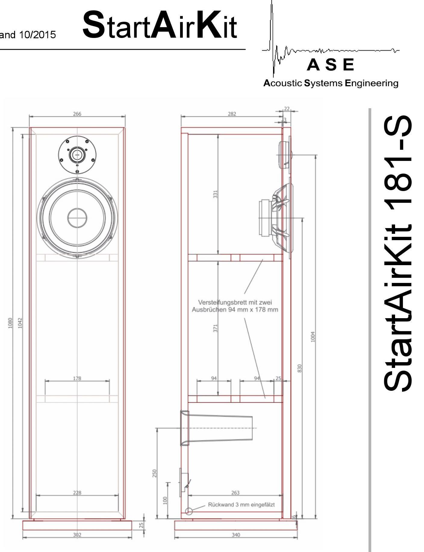 lautsprecherbau thomaier - sak 181 start air kit auf gehrung nach